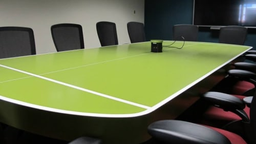 Tables by Willie Willette Works seen at Private Residence, Minneapolis - Conference PingPong Table