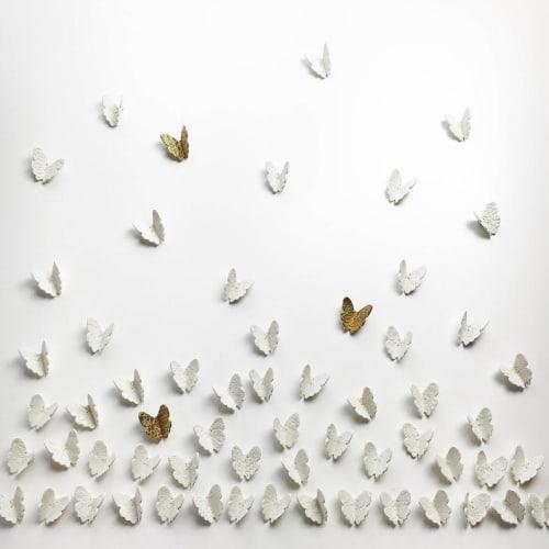 Art & Wall Decor by Elizabeth Prince Ceramics seen at Creator's Studio, Manchester - CUSTOM ARTWORK Multi Listing - 3D Butterfly wall art