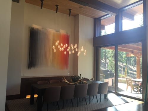 Wall Hangings by Nike Schroeder Studio seen at Martis Camp, Truckee - Lighthouse - Step Inside an Urban-Inspired Tahoe Interior