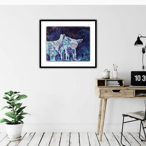 """Paintings by Karin McCombe Jones seen at Private Residence, Wellington - """"Boys and Girls Come Out To Play, The Moon Doth Shine As Bright As Day"""""""