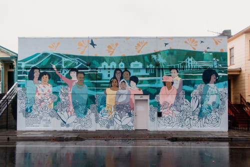 Street Murals by Leah Tumerman seen at Oakland, CA, Oakland - Legacy, Vast Like Us