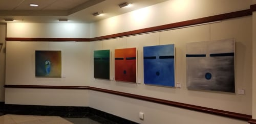 Paintings by Nathan N. Nez Sr. seen at Metropolitan Courthouse, Los Angeles - Paintings