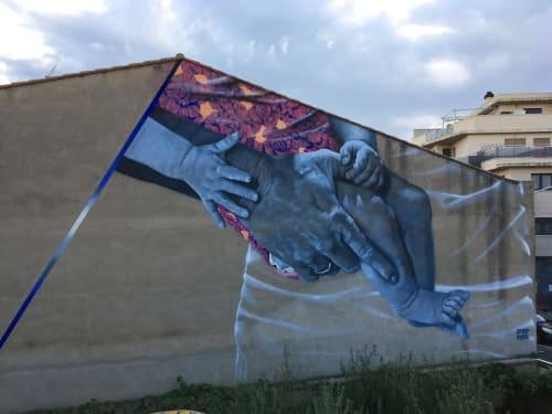 Street Murals by Erik Burke seen at Torrefarrera, Torrefarrera - Houston