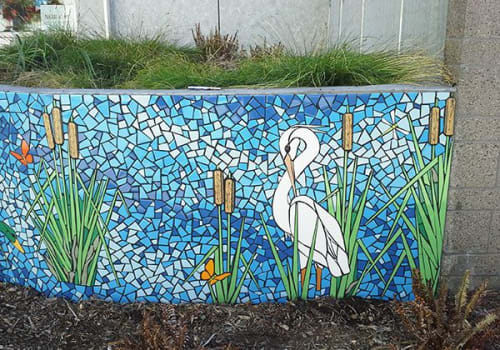 Public Mosaics by New World Mosaics seen at La Escuelita Elementary School, Oakland - The Great Return