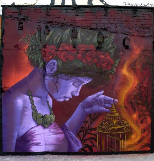 Street Murals by TURKESA @turkesart seen at Barcelona, Barcelona - Mural Vallcarca