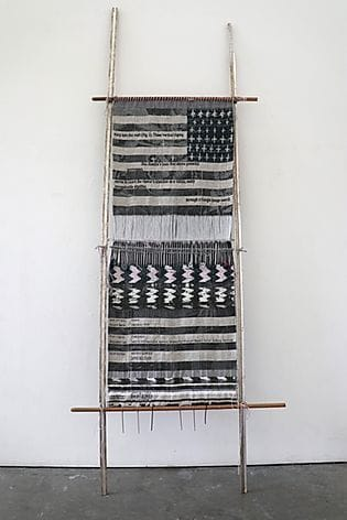 "Wall Hangings by Kira Dominguez Hultgren seen at Private Residence, San Francisco - ""Loom with Textile (After Juanita)"""