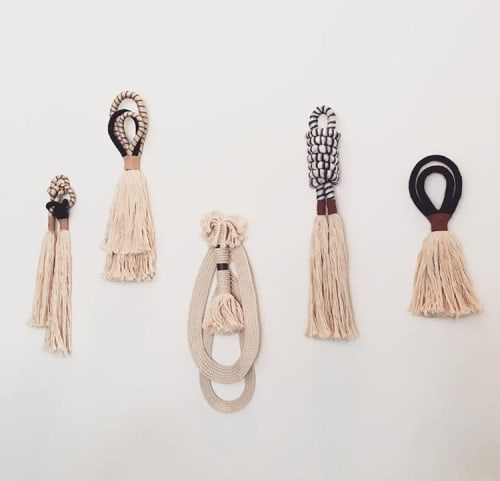Wall Hangings by HIMO ART seen at BäcoShop, Culver City - One Of A Kind Tassels