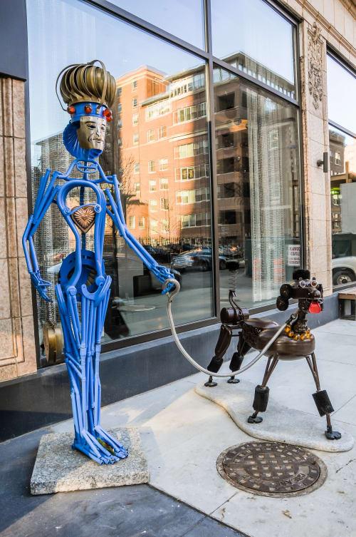 Sculptures by Allen Christian seen at 111 W Huron St, Chicago - Sculpture