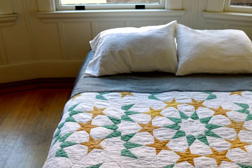 Linens & Bedding by Construction Lines seen at Private Residence, Oakland - Layering Quilt
