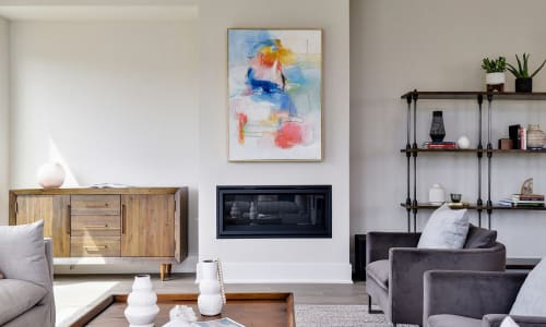 Paintings by Erin Donahue Tice Fine Art seen at Private Residence, Austin - The Peacock