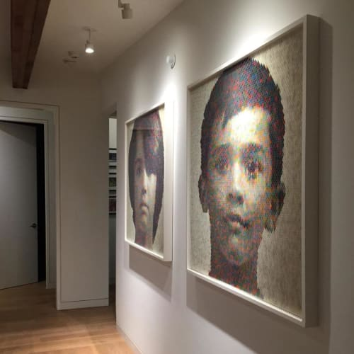 Wall Hangings by Peter Combe seen at Private Residence, Mill Valley - Portrait Wall Art