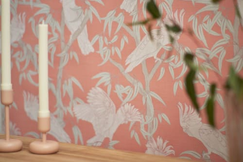 Wallpaper by Patricia Braune seen at Creator's Studio, Sydney - Australia Lines Collection - Wallpaper, wall vinyl & textile