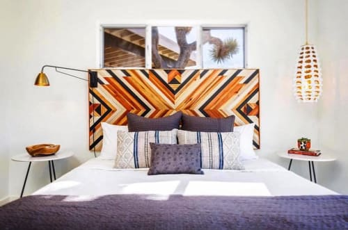 Beds & Accessories by Xio Design Studio seen at Private Residence, Joshua Tree - Custom headboard