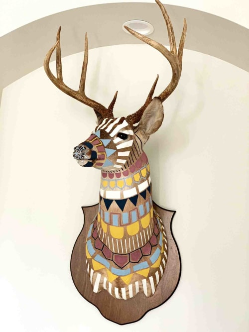 Sculptures by Cassandra Smith - Hand-Painted Taxidermy Deer
