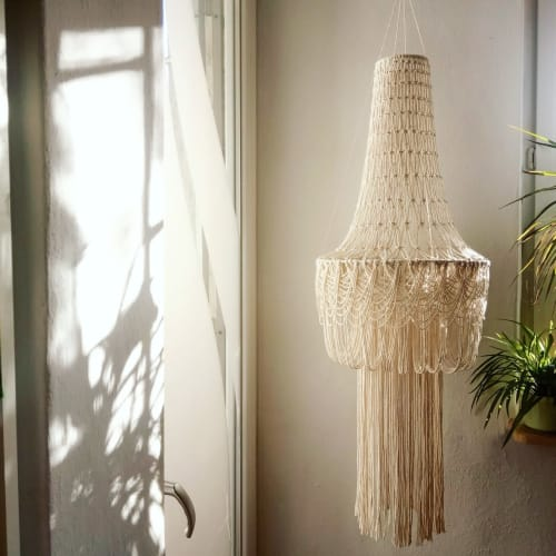 "Chandeliers by Sasha Sukiennik seen at Creator's Studio, Warsaw - Lampshade ""Meduza"""
