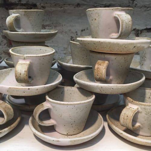 Cups by Len Carella seen at M.Georgina, Los Angeles - M. Georgina Espresso Cups & Saucers