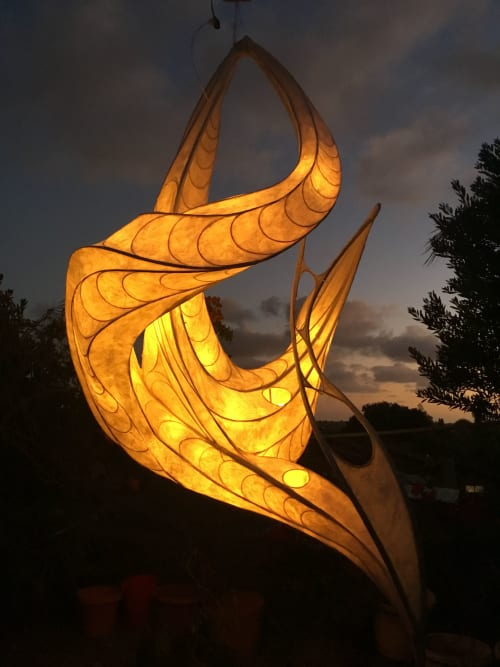 Lighting Design by PAPER SUN LIGHTSCULPTURE seen at Private Residence, Carlsbad - Shape of Light