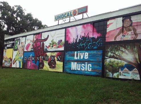 Murals by Mel Fiorentino Studios seen at 904 SE 1st Terrace, Ocala - S Curve Mural