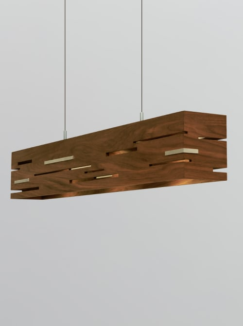 Pendants by Cerno seen at Private Residence, Paradise Valley - Aeris Linear Pendant