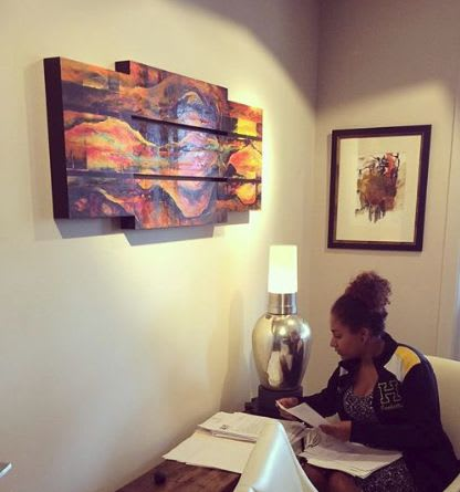 Paintings by Kim Howes Zabbia seen at The Law Offices of Tim L. Fields, LLC, New Orleans - Freedom II