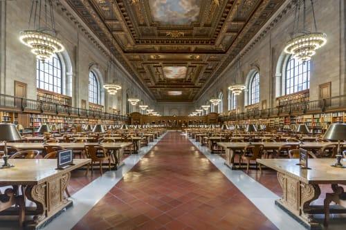 Photography by Richard Silver Photo seen at Creator's Studio, Boynton Beach - NY Public Library-Main Reading Room