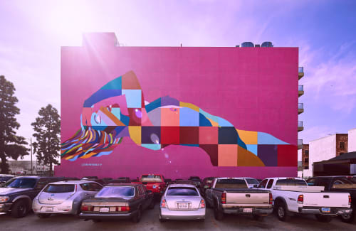 Murals by C. FInley seen at 1249 S Grand Ave, Los Angeles - Divine Feminine Mural LA
