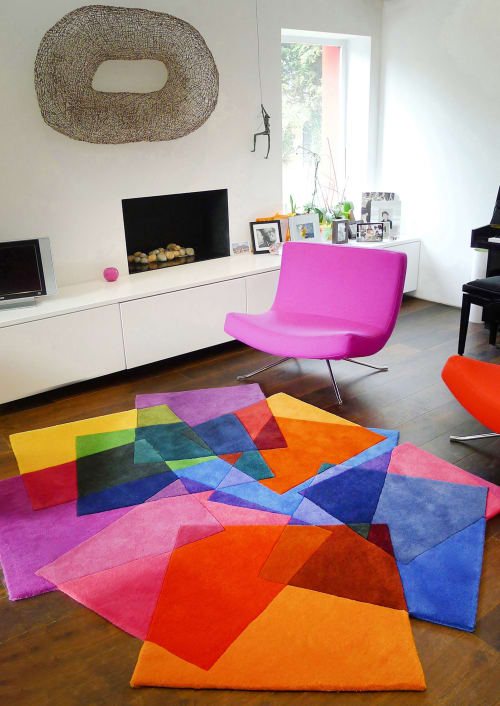 Rugs by Sonya Winner Rug Studio seen at Private Residence, London - After Matisse Contemporary Rug