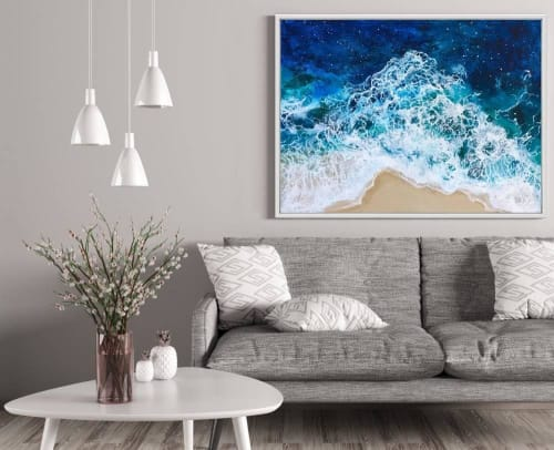 Paintings by Vanessa Mae seen at Private Residence, Auchenflower - Summer Waves