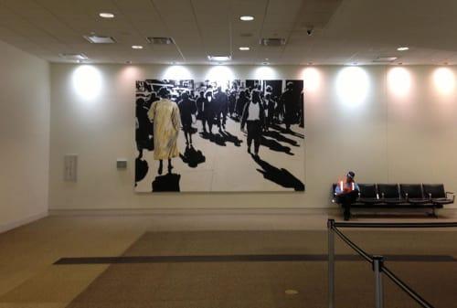 Murals by Mario M. Muller seen at Louisville International Airport, Louisville - The Golden Robe
