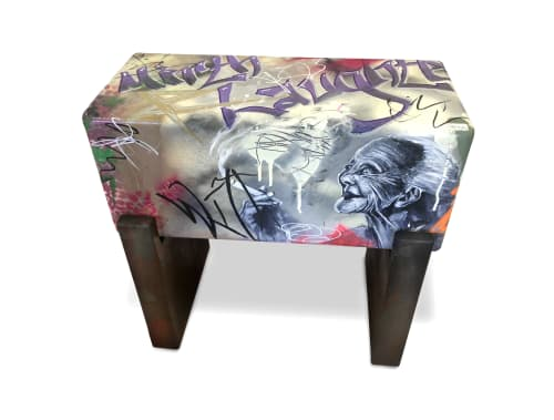 "Benches & Ottomans by Andi-Le seen at Aspen, Aspen - Shakespeare   ""Laughter""  Bench/Seat"