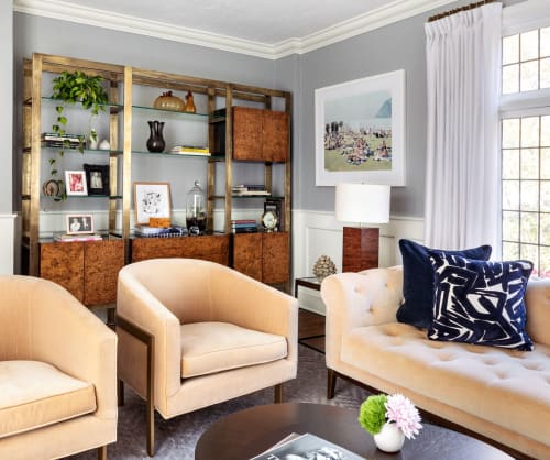 Interior Design by Sara Touijer seen at Private Residence, Rye - Living Room