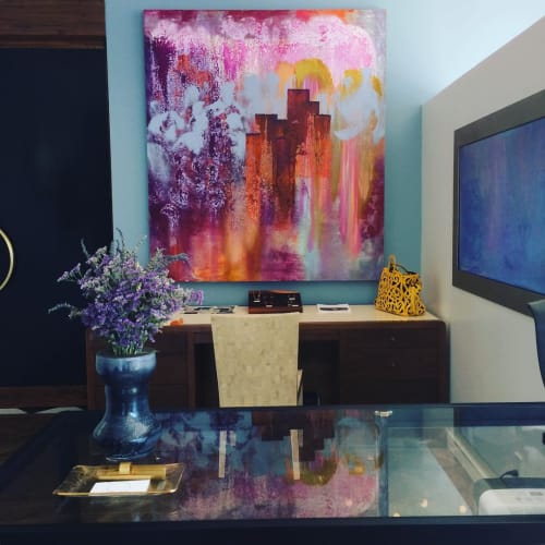 Paintings by Bryan Ricci seen at Private Residence, Los Angeles - Summer of '77