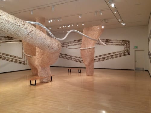 Public Sculptures by Jonathan Brilliant seen at Taubman Museum of Art, Roanoke - The stir City Piece