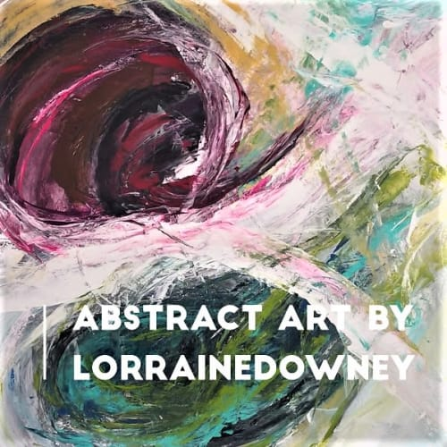 Paintings by Lorraine Downey Artist seen at Private Residence, Mont-Tremblant - Abstract luminescence