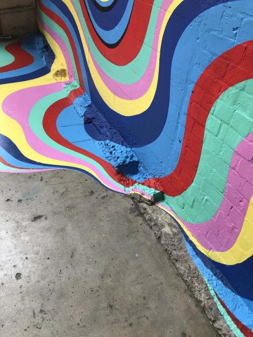 Murals by Gina Kiel seen at Work inc, Lavender Bay - Fountain