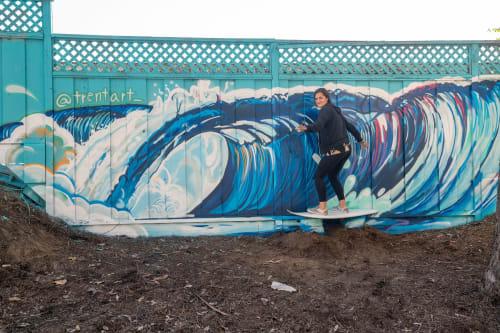 Murals by Trent Thompson seen at New Brighton State Beach, Capitola - Brighton Beach Mural