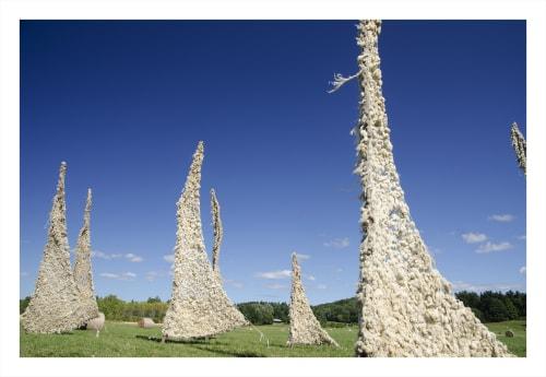 Public Sculptures by Nancy Winship Milliken Studio seen at Shelburne, Vermont, Shelburne - Windscape Outdoor Installation