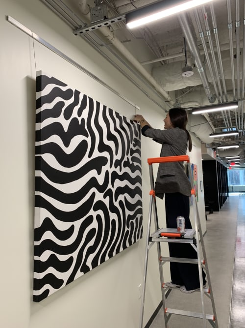 Paintings by Alli Conrad seen at Industrious Los Angeles Wilshire and Grand, Los Angeles - Groovy Baby