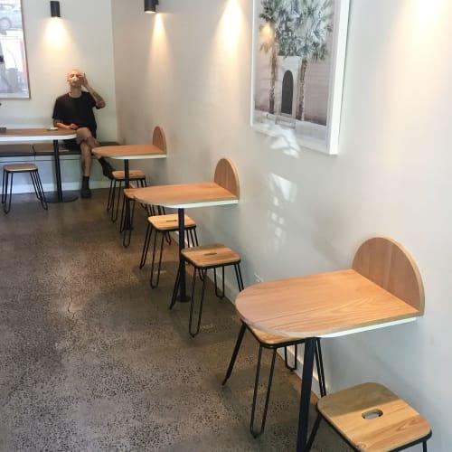 Tables by Heimur seen at Bloom Coffee Bar, Carlton - Custom Tables