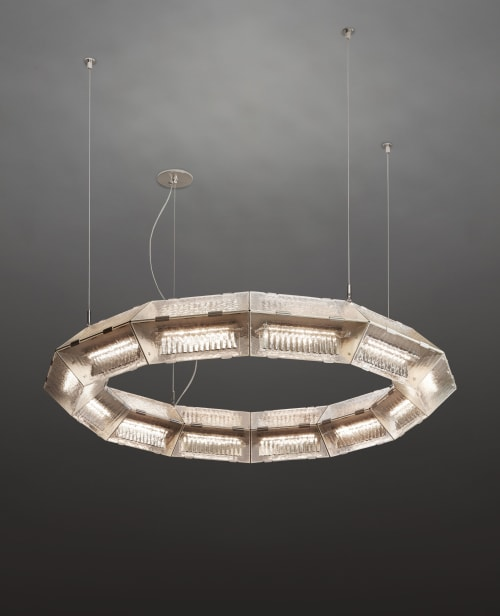 Chandeliers by McEwen Lighting Studio seen at De Sousa Hughes LLC, San Francisco - Prism Suspension