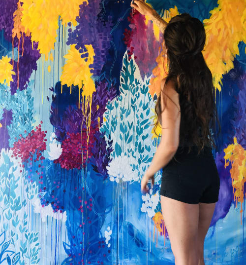 Murals by Ashley Rose seen at Trinity County - Strawhouse Mural