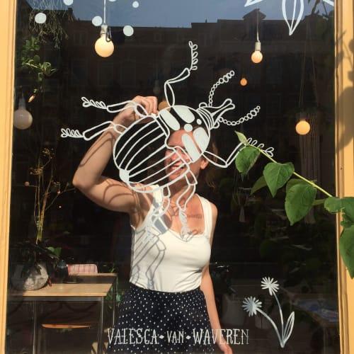 Murals by Valesca van Waveren seen at Amsterdam, Amsterdam - Wildernis window
