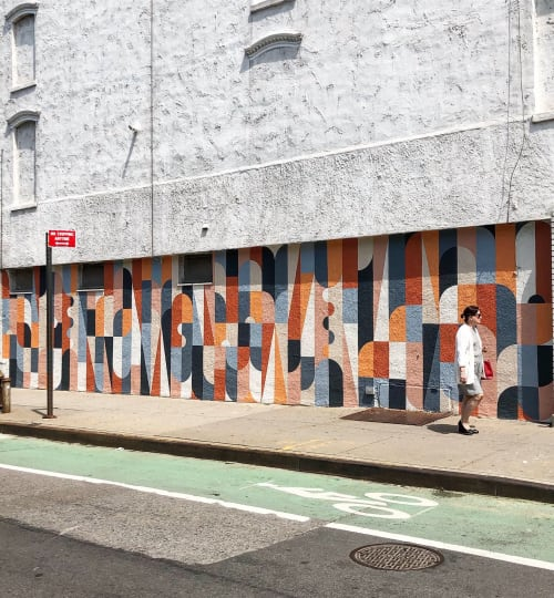 Street Murals by Scott Albrecht seen at 544 Court St, Brooklyn - Carroll Gardens Mural