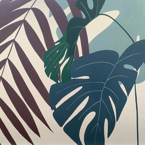 Murals by Chris Matos seen at Private Residence, Jardim Paulista - Leaves