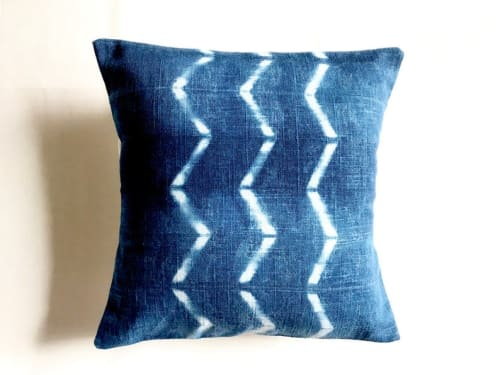 Pillows by KRUPA PARANJAPE seen at Bay Area Made x Wescover 2019 Design Showcase, Alameda - Hand dyed indigo decorative pillow