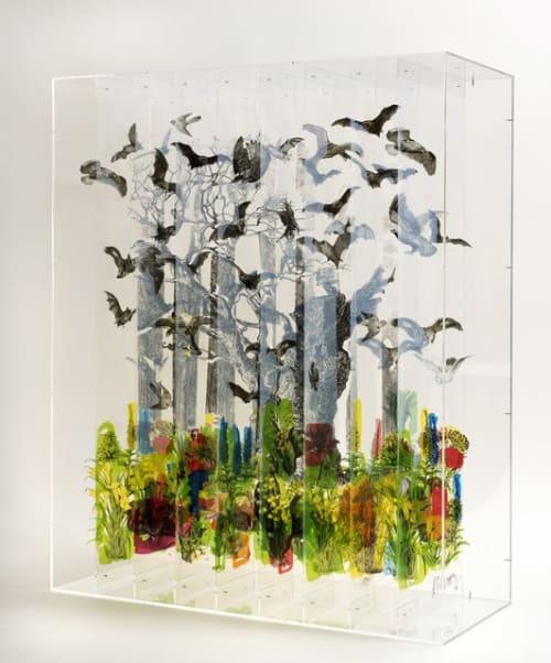 Art & Wall Decor by Jack Milroy seen at Crosby Street Hotel, New York - Mix Media 3D Art