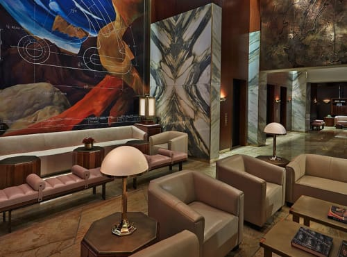 Lamps by Woka Lamps Vienna seen at Viceroy New York Hotel, New York - HSP7 - Josef Hoffmann Villa Spitzer