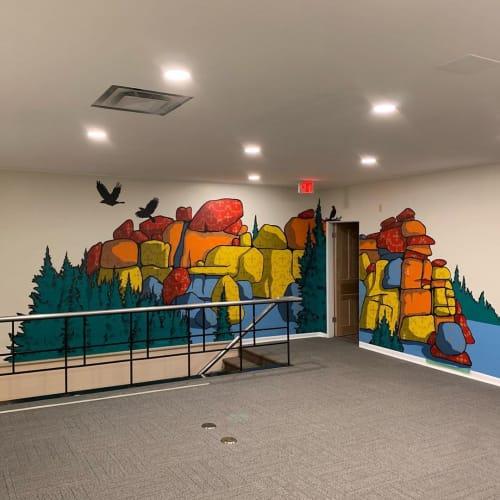 Murals by Dan toro seen at cotangent, Laramie - Indoor Mural