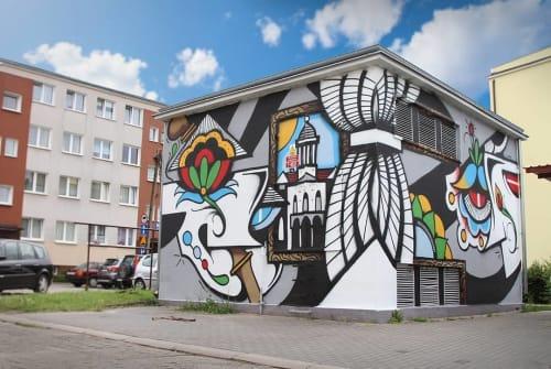 Street Murals by PALLADIN seen at Wejherowo, Wejherowo - Exterior Wall Mural