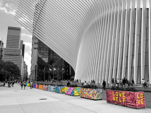 """Street Murals by Todd Gray seen at The Oculus, New York - """"Mural Project"""""""
